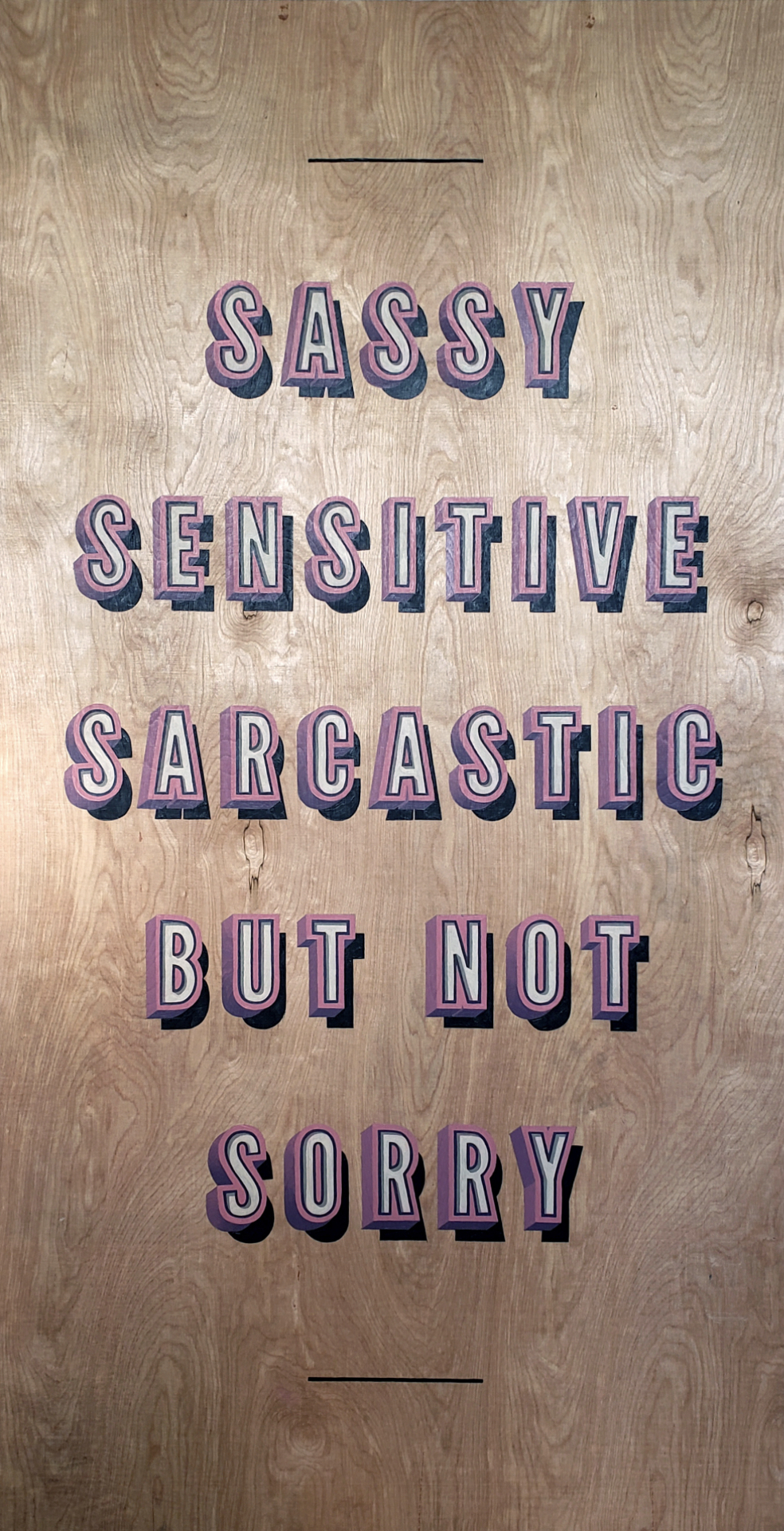 SassySensitiveSarcastic1_handpainted_sign_dimensional_wood_pink_humor.jpg