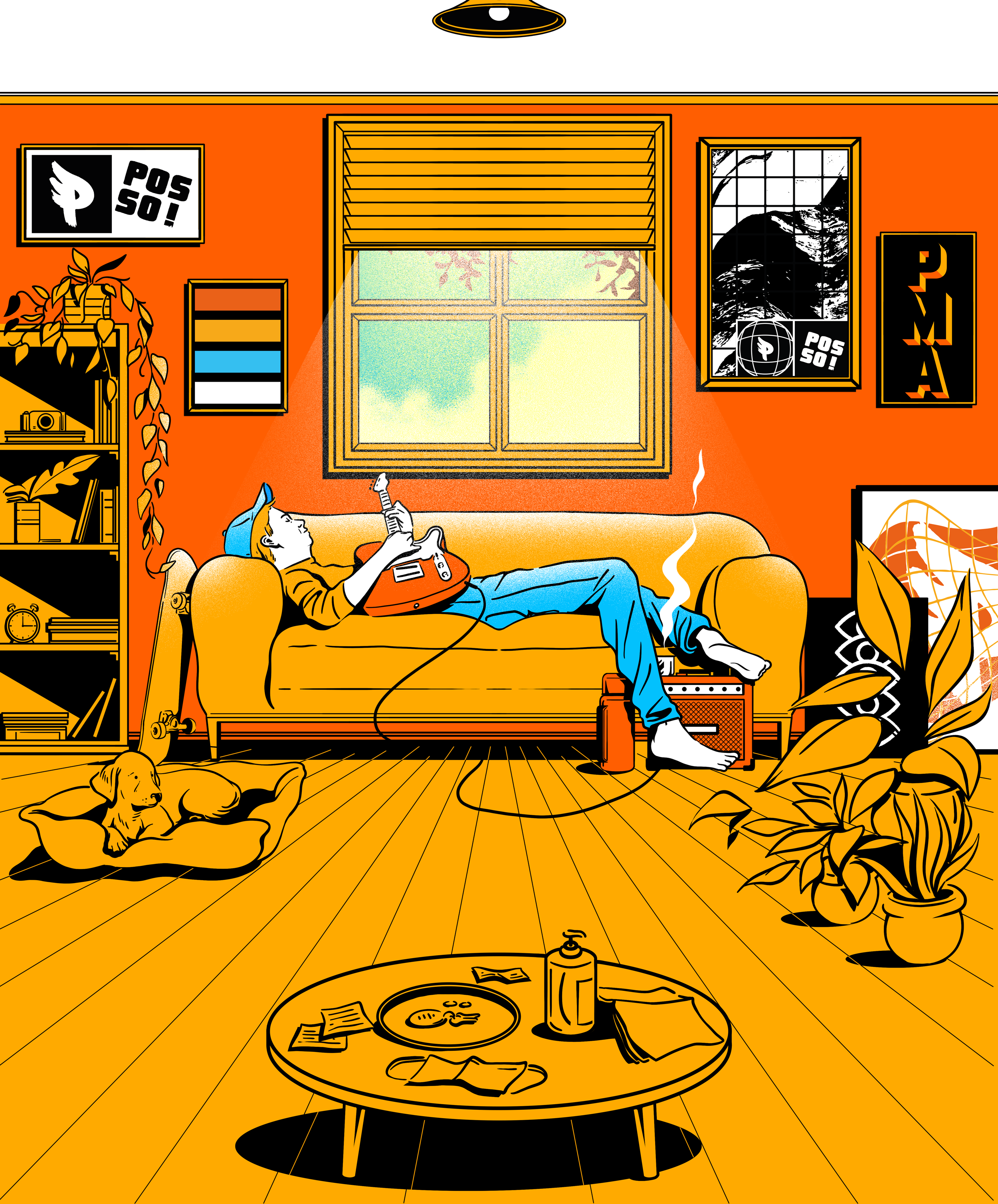 artistique_gustavo_magalhaes_covid_home_dog_house_chill_guitar_couch_window_light.png